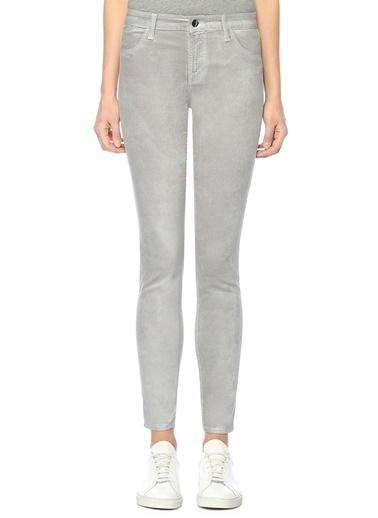 J Brand Yüksek Bel Dar Paça Pantolon Gri
